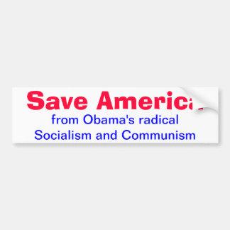 Save America from Obama Bumper Sticker