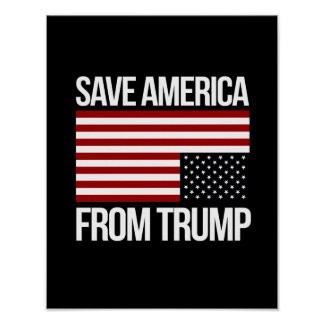 Save America From Trump -- white - Poster