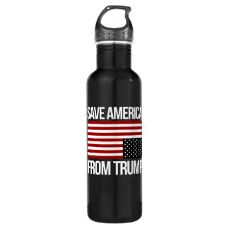 Save America From Trump -- white - Stainless Steel Water Bottle