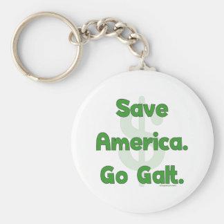 Save America Go Galt Basic Round Button Keychain