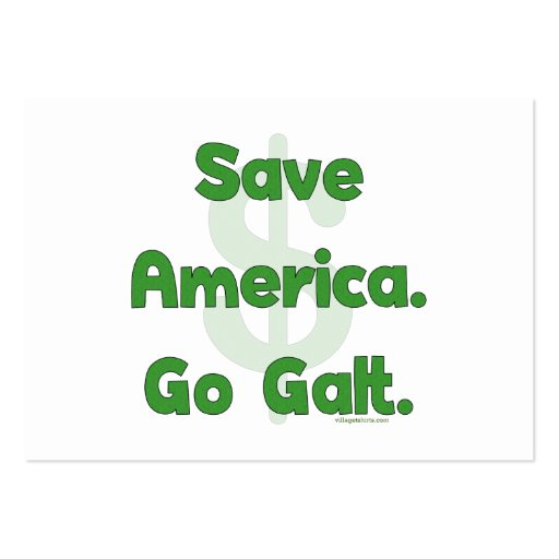 Save America Go Galt Large Business Cards (Pack Of 100)