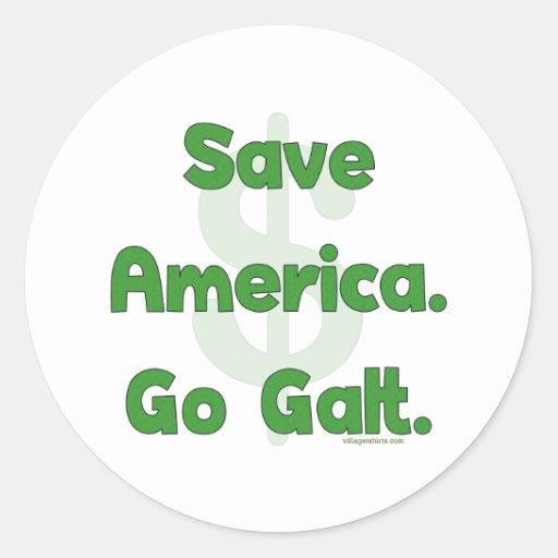 Save America Go Galt Classic Round Sticker