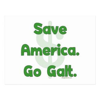 Save America Go Galt Postcard