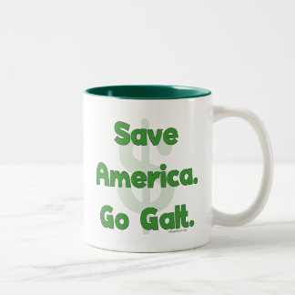 Save America Go Galt Two-Tone Coffee Mug