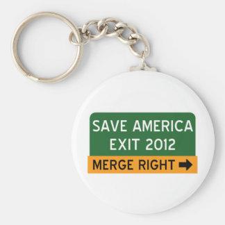 Save America Repulican Basic Round Button Keychain