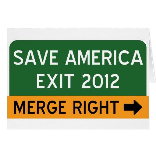 Save America Repulican Greeting Card