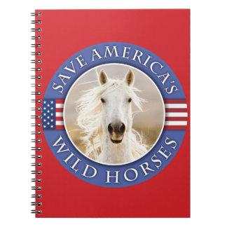 Save America s Wild Horses Notebook