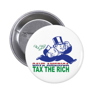 Save America/ Tax the Rich 2 Inch Round Button