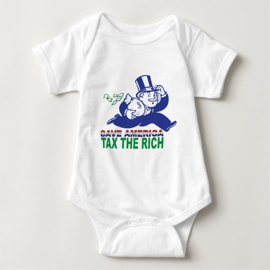 Save America/ Tax the Rich Baby Bodysuit