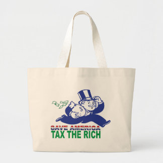 Save America/ Tax the Rich Canvas Bag