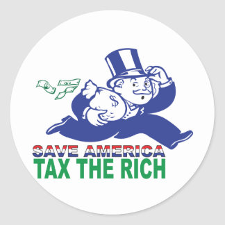 Save America/ Tax the Rich Classic Round Sticker