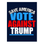 Save America Vote Against Trump Postcard