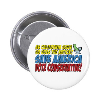 Save America, Vote Conservative! Buttons