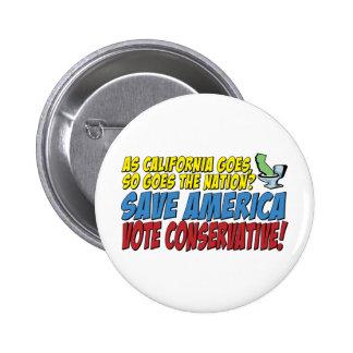 Save America, Vote Conservative! Pin