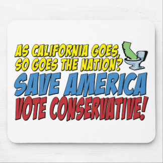 Save America, Vote Conservative! Mouse Pads