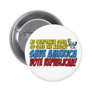 Save America, Vote Republican! Buttons