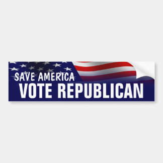 Save America Vote Republican - Romney Ryan 2012 Car Bumper Sticker