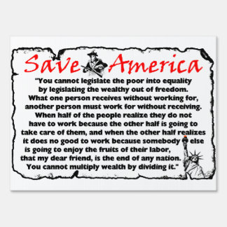 Save America! Yard Signs