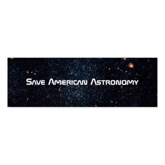 Save American Astronomy - Save JWST Business Card Template