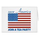 Save American - Join a TEA Party Greeting Card