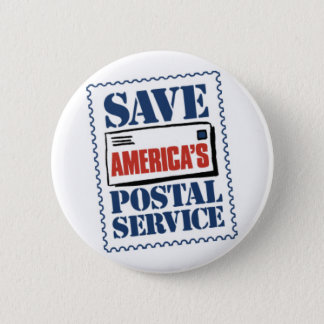Save America's Postal Service Button
