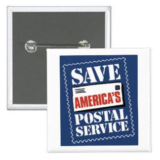 Save America's Postal Service 2 Inch Square Button