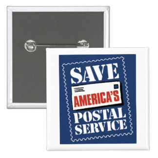 Save America's Postal Service Pinback Button