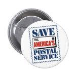 Save America's Postal Service Pinback Buttons