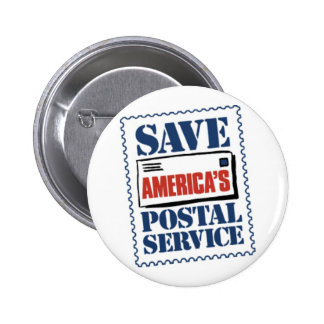 Save America's Postal Service Pinback Buttons