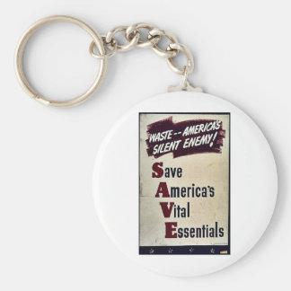 Save America's Vital Essentials Key Chain