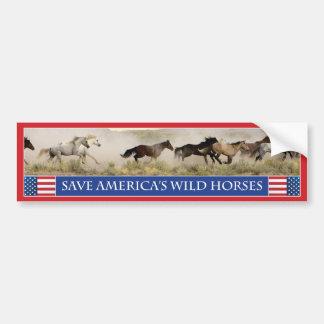 Save America's Wild Horses Bumper Sticker 1 Car Bumper Sticker