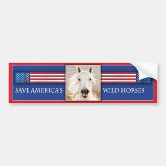 Save America's Wild Horses Bumper Sticker 2 Car Bumper Sticker