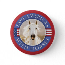 Save America's Wild Horses Button