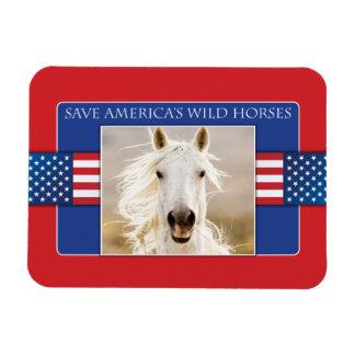 Save America's Wild Horses Flexi Magnet