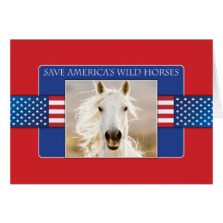 Save America's Wild Horses Greeting Card