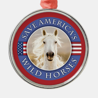 Save America's Wild Horses Holiday Ornament