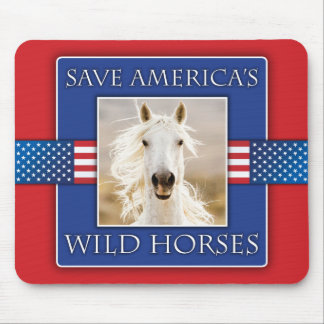 Save America's Wild Horses Mouse Pad