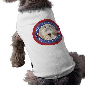 Save America's Wild Horses Pet Sweater Tee