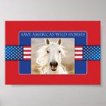 Save America's Wild Horses Poster