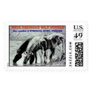 SAVE AMERICA'S WILD HORSES Stamp