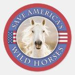 Save America's Wild Horses Stickers