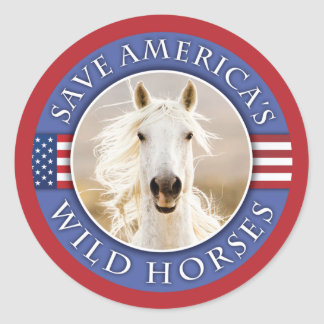 Save America's Wild Horses Stickers