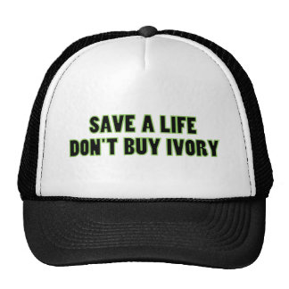 Save an Elephant's Life, Don't Buy Ivory Trucker Hats