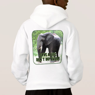Save an Elephant's Life, Don't Buy Ivory Hoodie