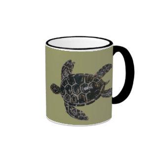 Save and Protect Sea Turtles Ringer Coffee Mug