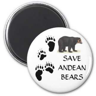 SAVE ANDEAN BEARS 2 INCH ROUND MAGNET