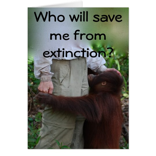 Save Animals from Extinction card