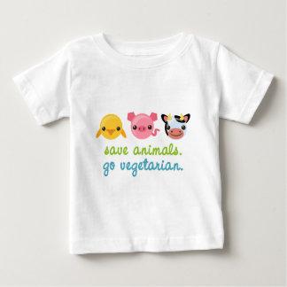 Save Animals Go Vegetarian Baby T-Shirt
