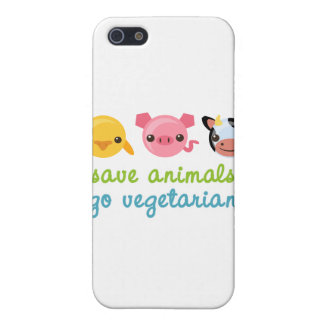 Save Animals Go Vegetarian iPhone SE/5/5s Cover