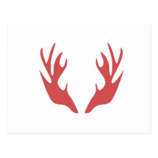 save antler deer christmas holiday postcard